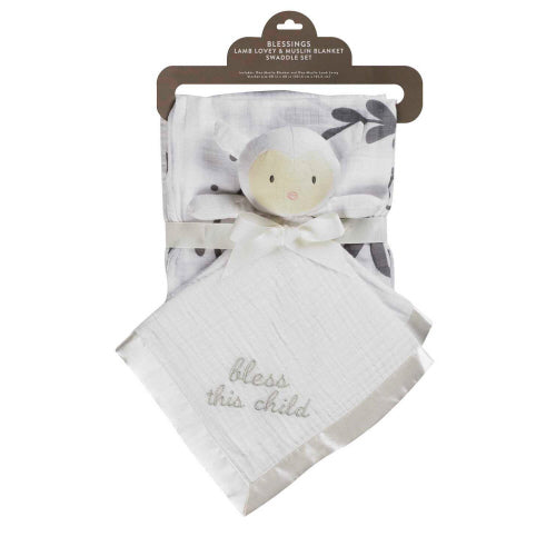 Lamb Lovely & Muslin Blanket Swaddle Set