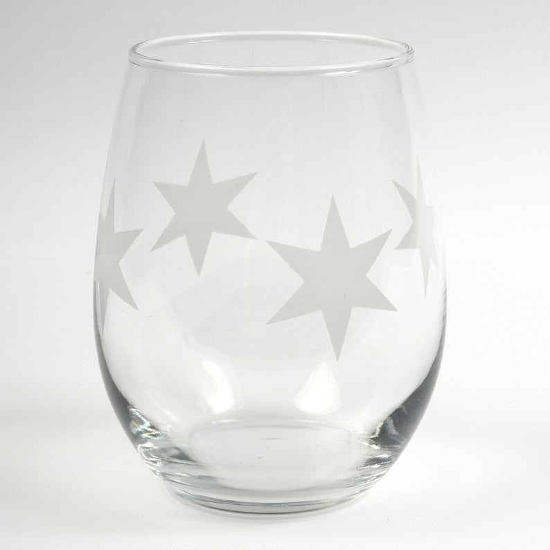 Chicago Stars Stemless Wine Glass