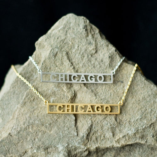 Chicago Block Necklace