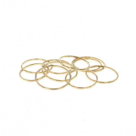 Lotus Thin Stackble Ring