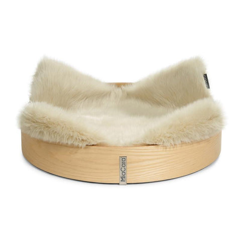 Land of Meow MiaCara Anello Luxury Cat Basket Ash Ivory