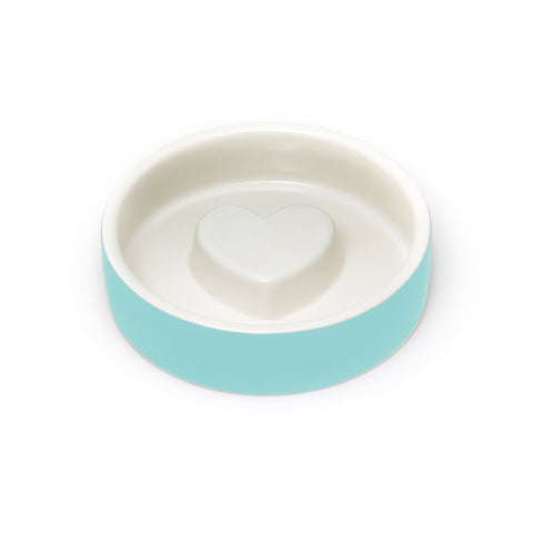 Land of Meow Magisso Blue Heart Luxury Cat Bowl