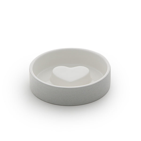 Land of Meow Magisso Concrete Heart Luxury Cat Bowl