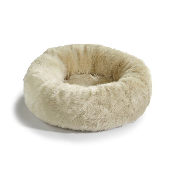 Land of Meow MiaCara Lana Luxury Cat Bed Ivory