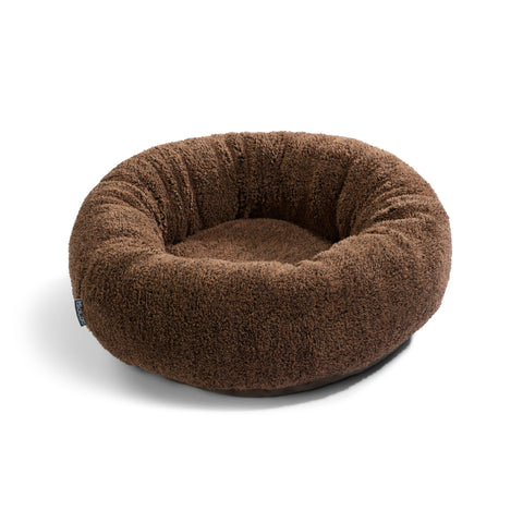 Land of Meow MiaCara Sherpa Luxury Cat Bed Brown