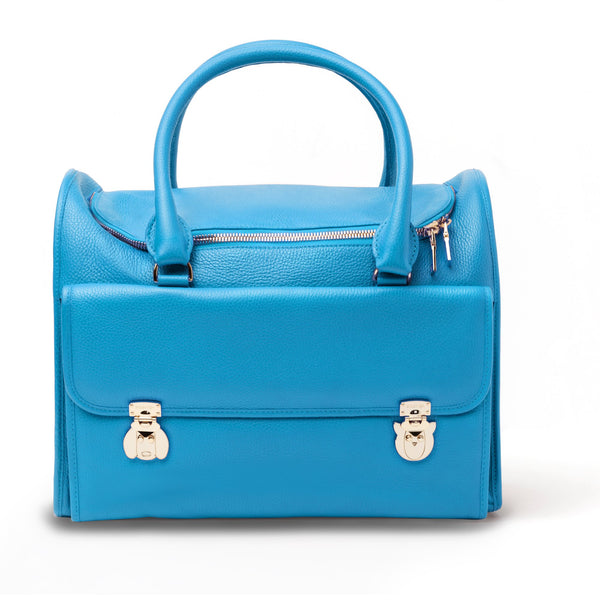 Land of Meow Moshiqa Blue Luxury Cat Carrier