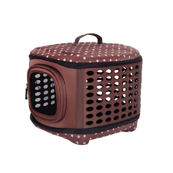 Land of Meow On The Go Luxury Cat Carrier Choc Berry