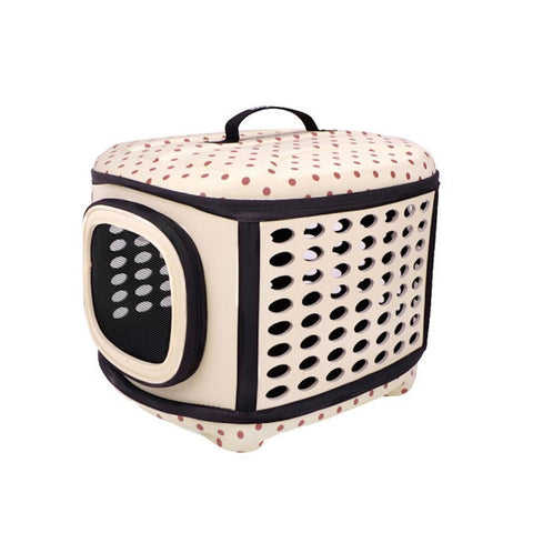 Land of Meow On The Go Luxury Cat Carrier Lets Polka