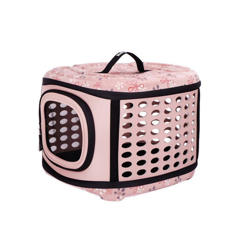 Land of Meow On The Go Luxury Cat Carrier Strawberries and Cream