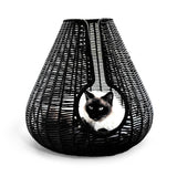 Land of Meow Perla Luxury Cat Cave Black
