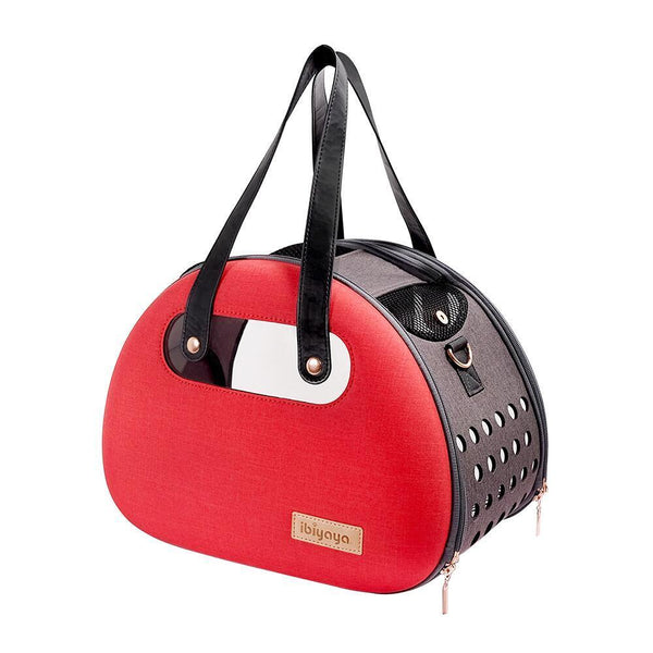 Land of Meow Retro Bubble Luxury Cat Carrier Ruby Red