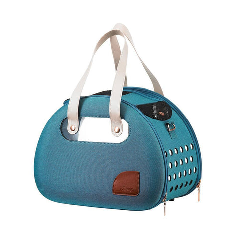Land of Meow Retro Bubble Luxury Cat Carrier Turquoise