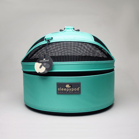Land of Meow SleepyPod Cat Carrier Robin Egg Blue Front