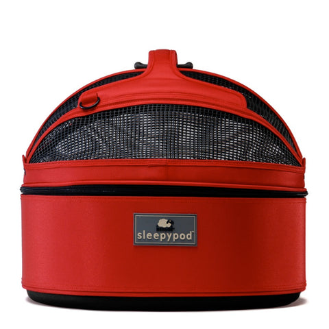 Land of Meow SleepyPod Cat Carrier Strawberry Red Front
