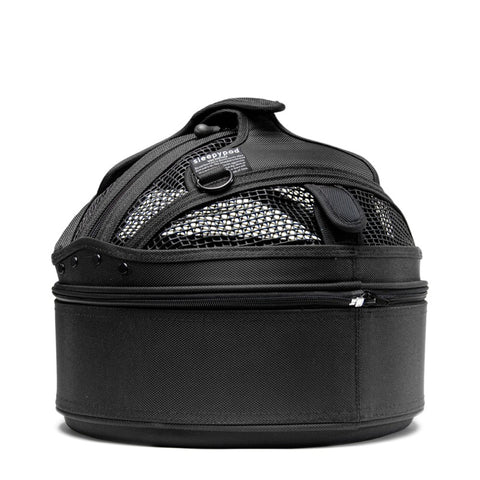 Land of Meow SleepyPod Mini Cat Carrier Jet Black Back