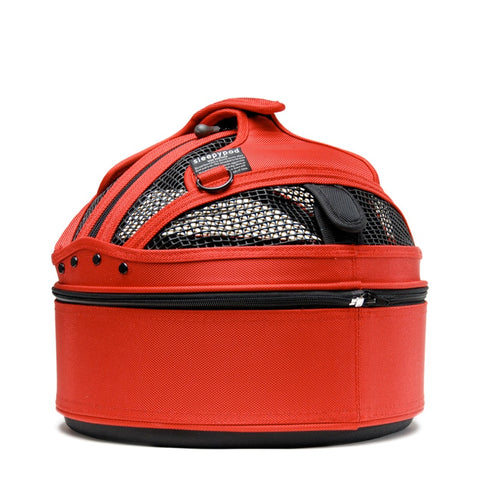 Land of Meow SleepyPod Mini Cat Carrier Strawberry Red Back