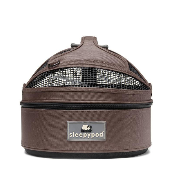 Land of Meow SleepyPod Mini Luxury Cat Carrier Dark Chocolate