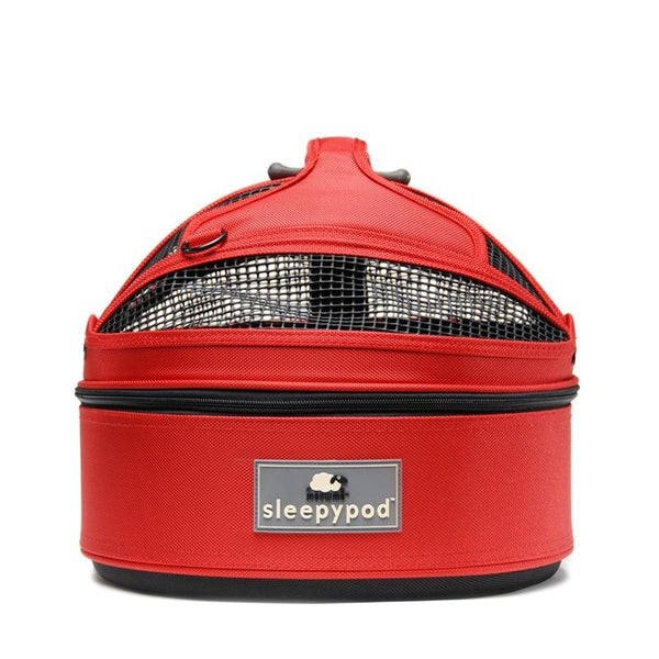 Land of Meow SleepyPod Mini Luxury Cat Carrier Starwberry Red