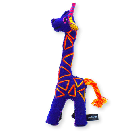 Land of Meow The Collarist Luxury Cat Toy Giraffe