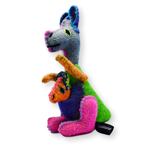 Land of Meow The Collarist Luxury Cat Toy Kangaroo