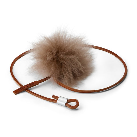 Land of Meow Topo Luxury Cat Toy Cognac Taupe