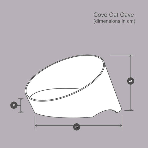 Covo Cat Cave - Walnut/Mocha