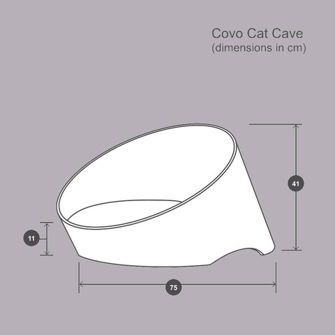 Covo Cat Cave - Ash/Hemp