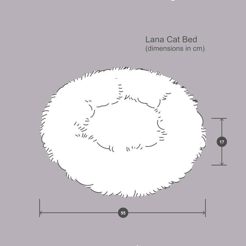 Lana Cat Bed - Ivory