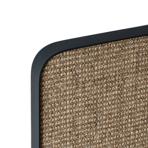 ScratchPad Scratch Panel - Black Frame/Natural Sisal