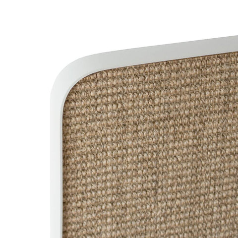 ScratchPad Scratch Panel - White Frame/Natural Sisal