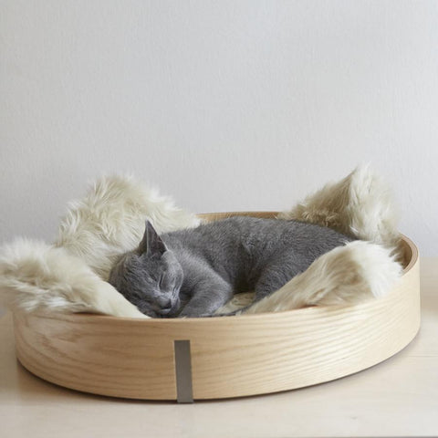Land of Meow MiaCara Anello Cat Basket Ash Ivory with Cat