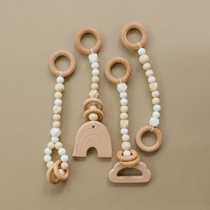 Wholesale White and Wood Baby Gym Toys