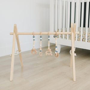 Wholesale Wooden Baby Gym + Gray Toys