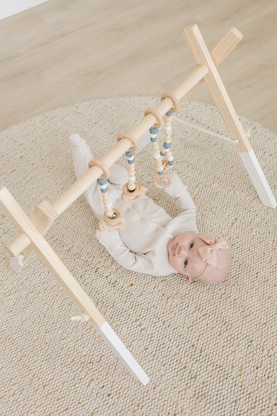 Gray Baby Gym Toys