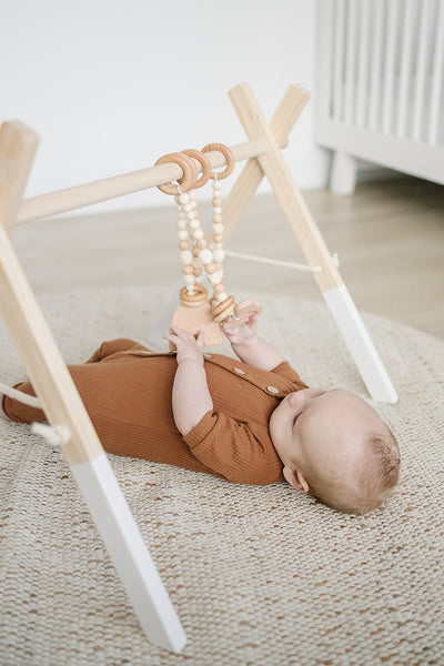 Natural Wood Baby Gym Toys