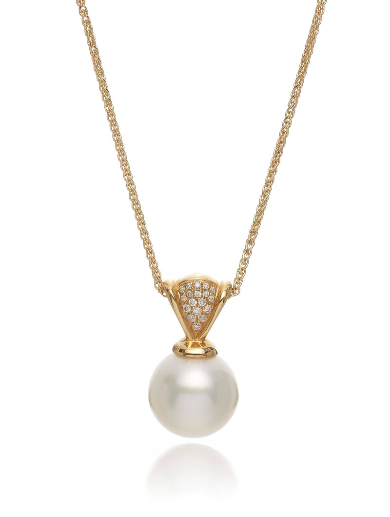 South Sea Pearl & Pave Diamond Pendant