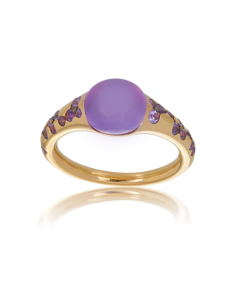 Amethyst & Purple Sapphire Dress Ring