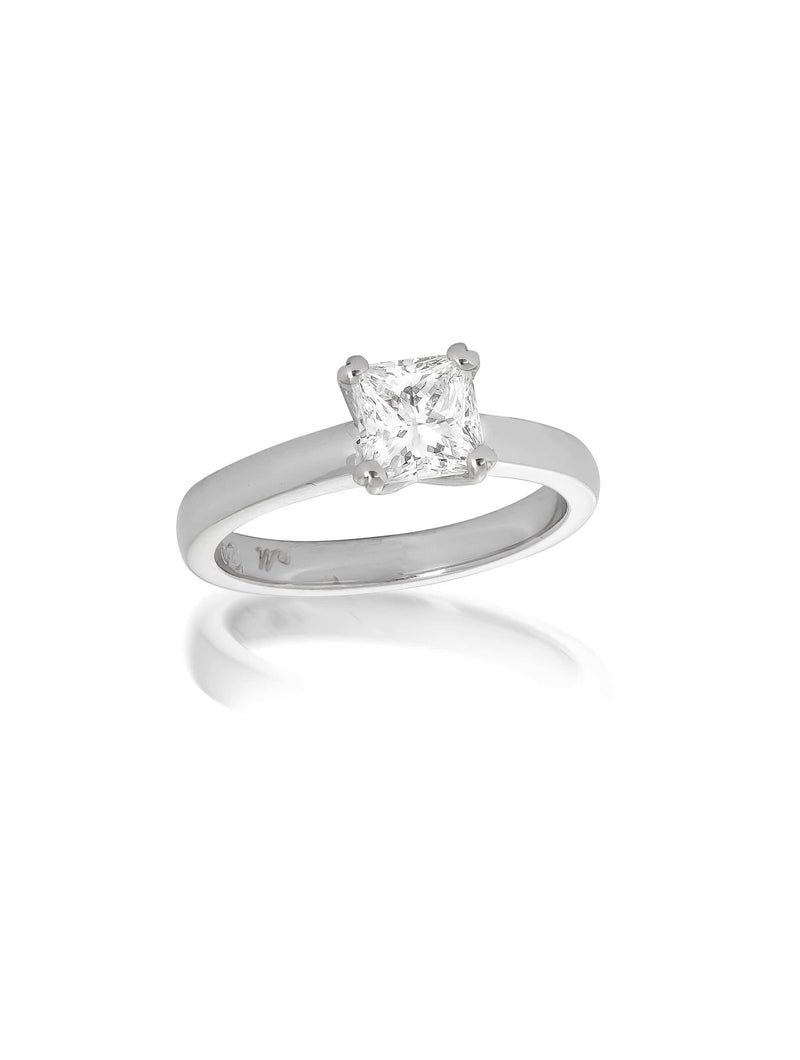 Signature Princess Cut Solitaire Diamond Ring