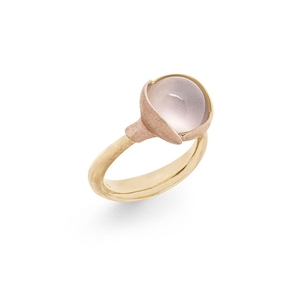 Lotus Rose Quartz Ring - Size 2
