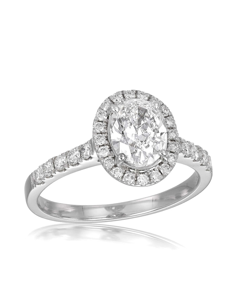 Royal Oval Cut Diamond Engagement Ring