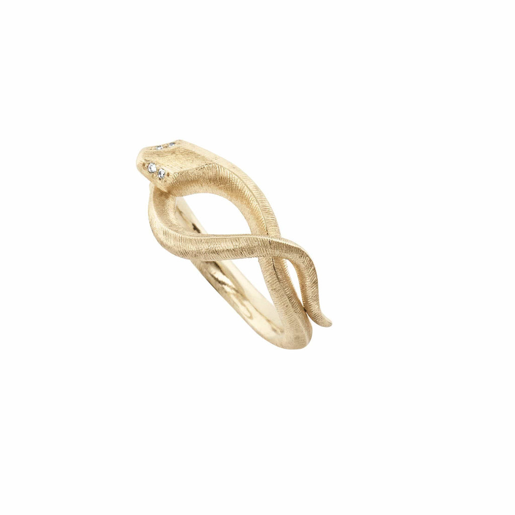 Snakes Diamond Set Ring - Small