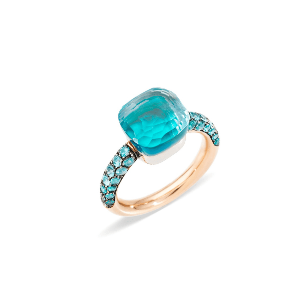 Nudo Deep Blue Topaz Ring