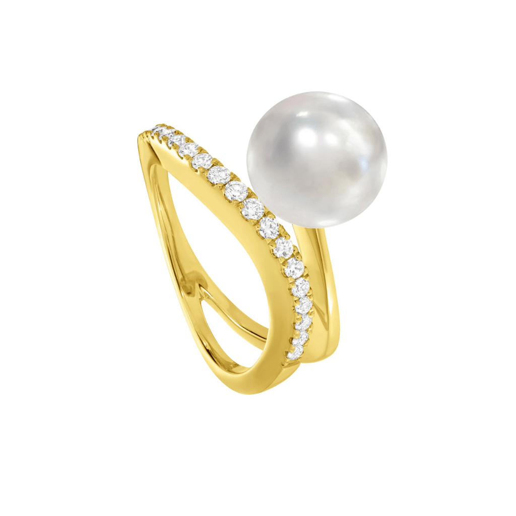 Yellow Gold, Pearl & Diamond Ring