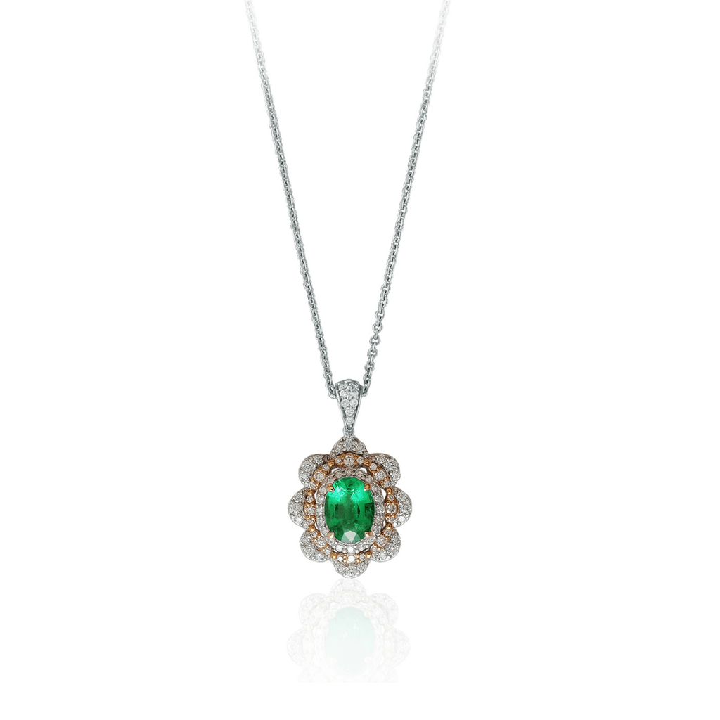 Emerald & Diamond Necklet