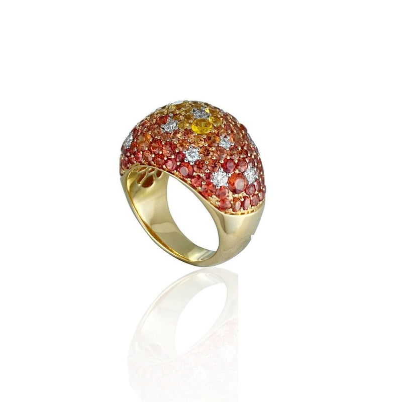 Malaya Garnet & Diamond Ring