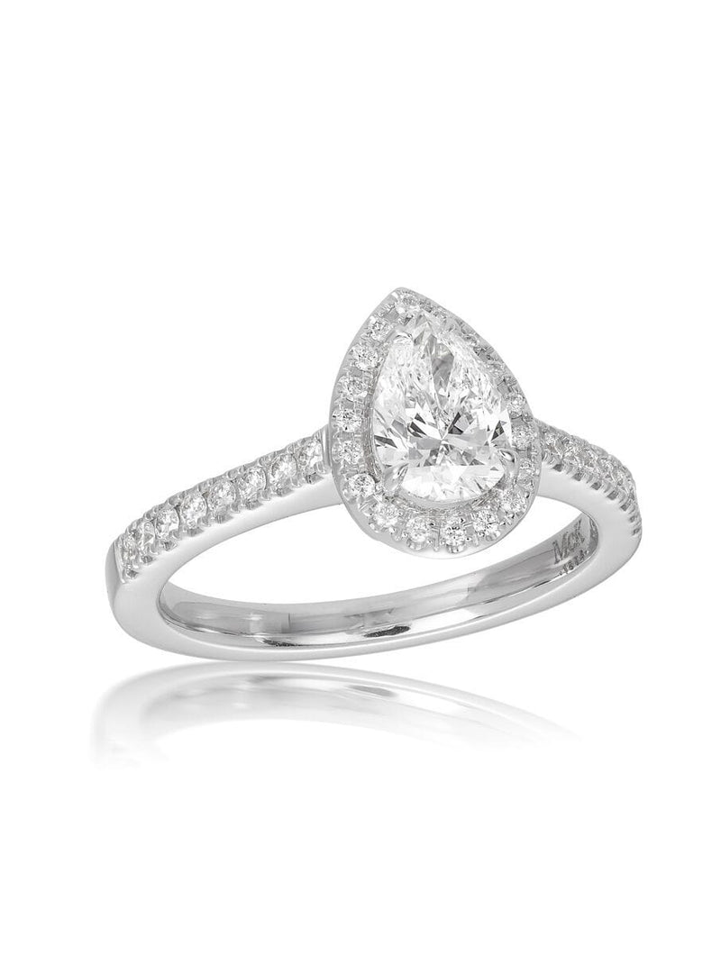 Pink Diamond Halo 1.01ct Cushion Cut Diamond Ring
