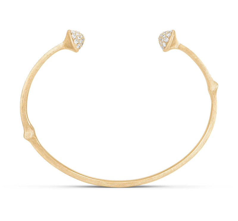 Nature Pave Diamond Bangle