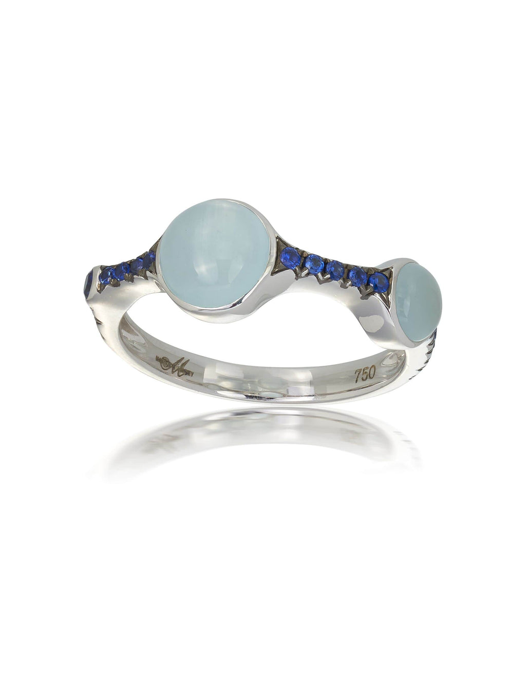 Aquamarine & Sapphire Dress Ring