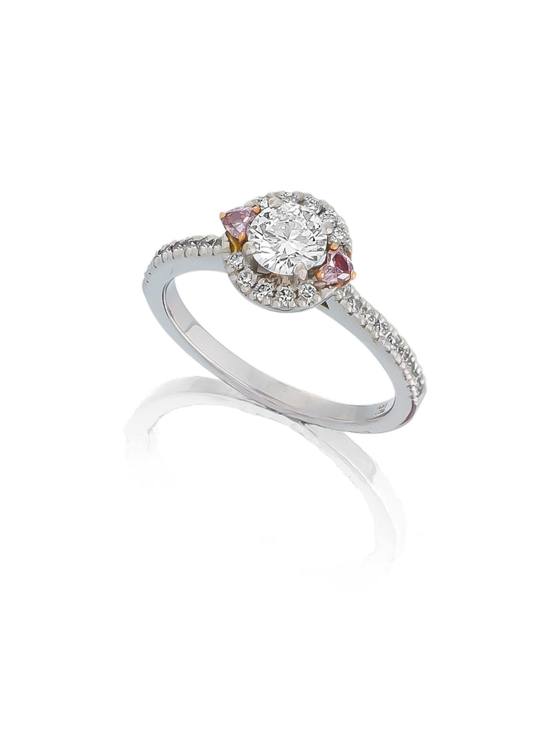 1.05ct Cognac Diamond Double Halo Ring