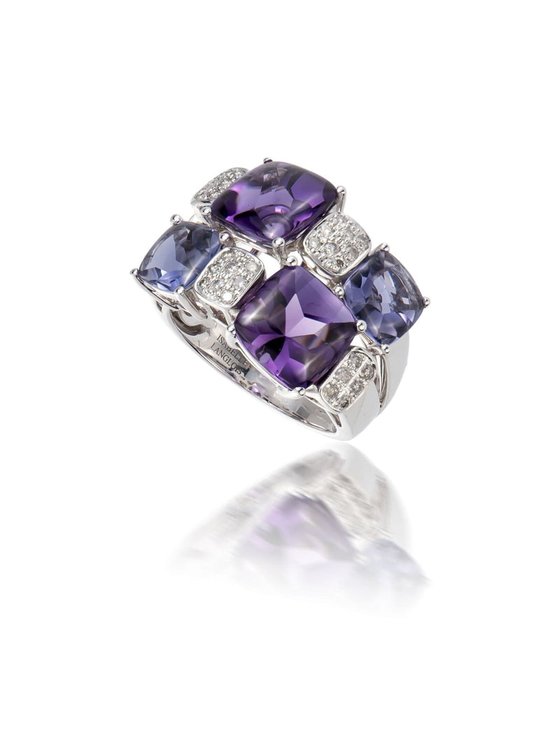 Paris Pave Amethyst & Iolite Ring